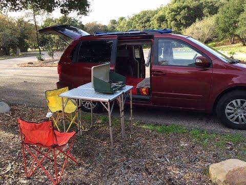 Couple spends under $700 on minivan camper conversion
