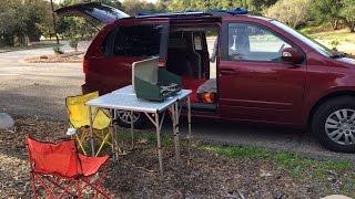 Tour a Converted Minivan Camper