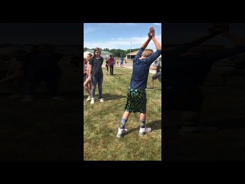 kid tries to look cool in front of girls, goes wrong...