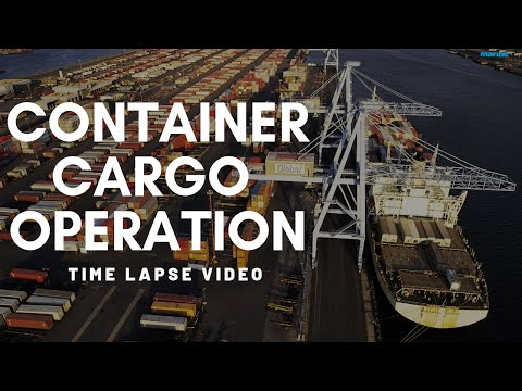 Timelapse Video- Cargo Operation of Container Barge Paradox