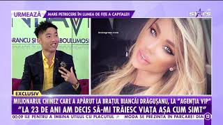 """Bianca Drăgușanu, la brațul milionarului chinez, Ryan Feng: """"Prefer femeile mai naturale"""""""