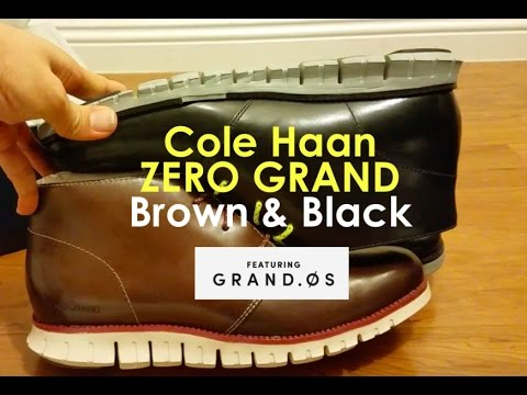 Cole Haan Zero Lunar Grand CHUKKA Unboxing Brown & Black