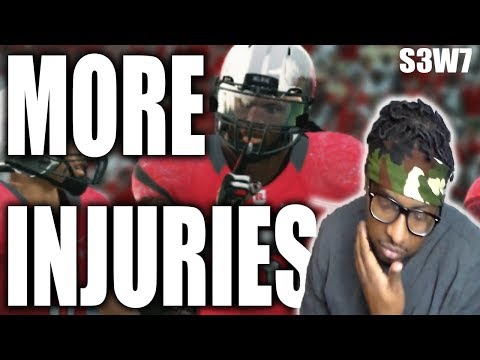 MORE INJURIES TO KEY PLAYERS!!! NCAA FOOTBALL 14 RUTGERS DYNASTY