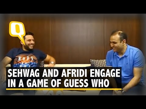 Kohli or Dhawan?: Virender Sehwag and Shahid Afridi Play Guess Who The Quint