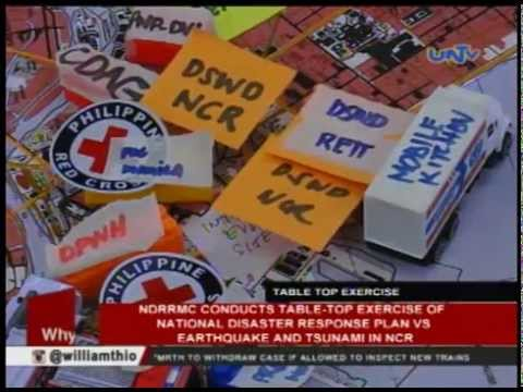 NDRRMC conducts table-top exercise of disaster response plan vs earthquake and tsunami in NCR