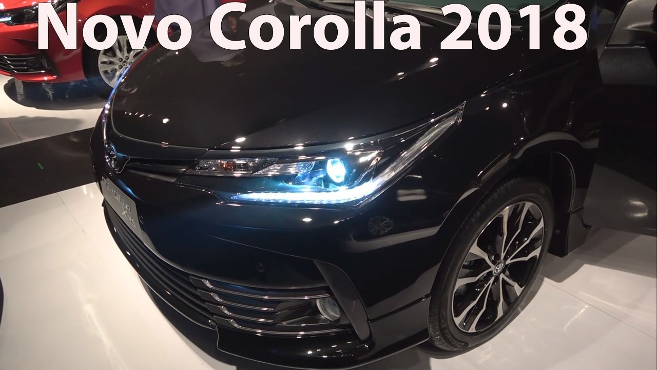 novo corolla 2018 facelift em detalhes   youtube