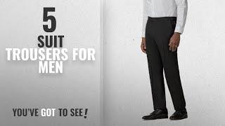 Top 10 Suit Trousers For Men [2018]: Scott & Taylor Black Dinner Suit Trouser ST120456 by Suit