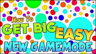 GET CRAZY HUGE IN AGARIO EASY WITH ULTRA FAST COMBINING! NEW AGARIO GAMEMODE - EASY (Agar.io #81)