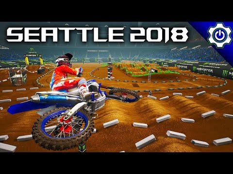 Monster Energy Supercross - 2018 Seattle Supercross Gameplay