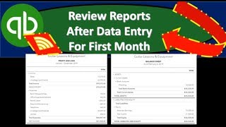 QuickBooks Online 2019-Review Reports After Data Entry For First Month
