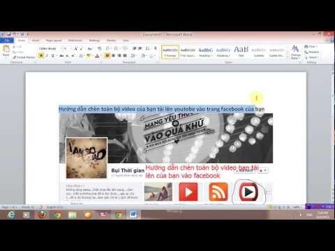 Hướng dẫn chèn Video của bạn tải lên vào trang facebook