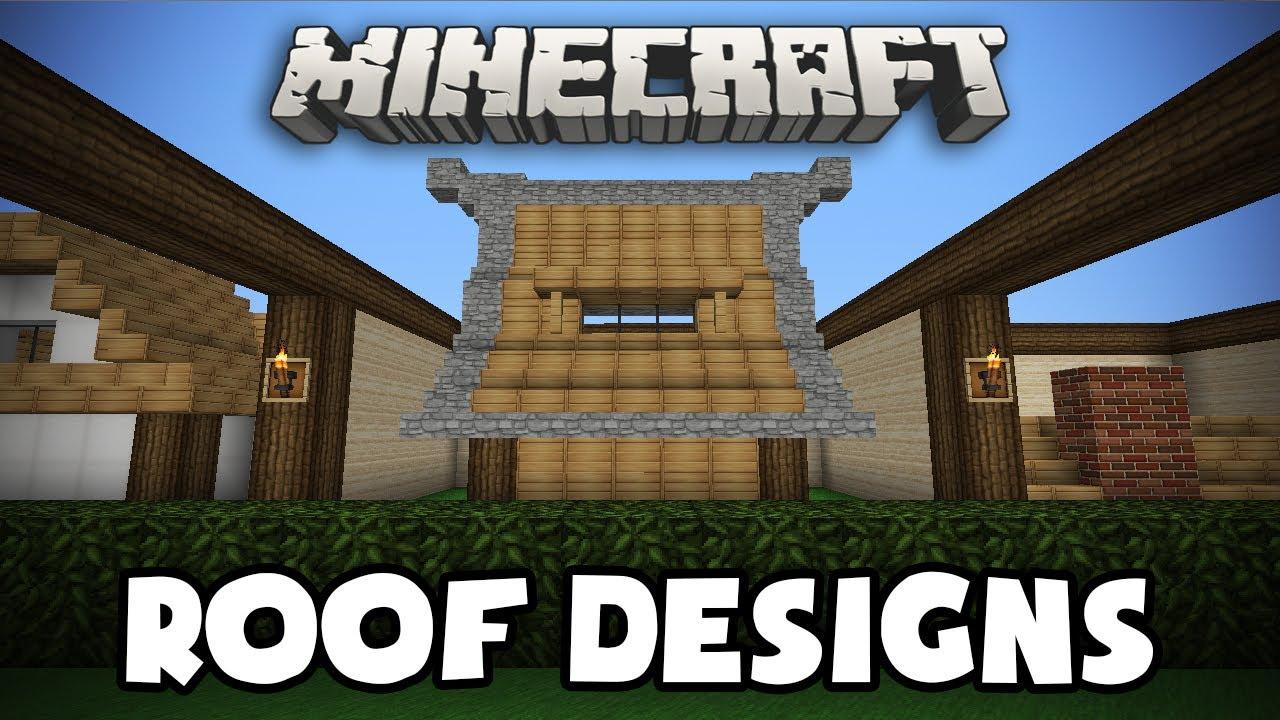 Minecraft roof designs youtube for Window design minecraft