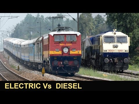 The Unique Electric vs Diesel Shatabdi...