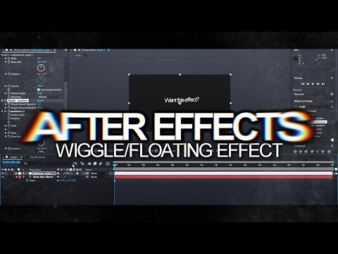 After Effects | Wiggle/Floating Effect Tutorial!