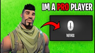 Default Skin Lied About Being A Pro Player... (Fortnite)