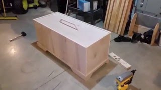 How to build a kids toy box with a drop in lid.