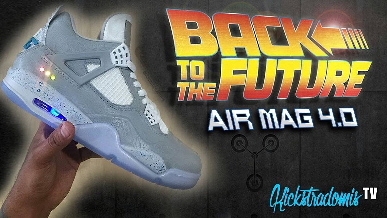 ce772cffb04 Kickstradomis  Air Mag Air Jordan 4 Custom! - YouTube