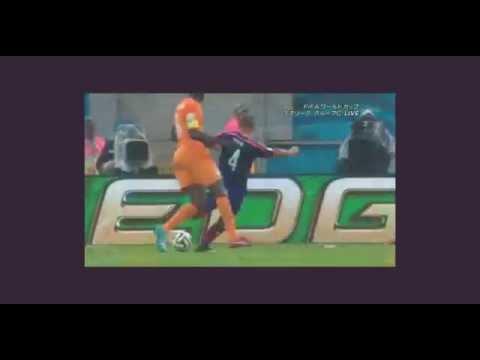 本田圭佑ゴール!日本代表VSコートジボワール 2014ワールドカップ 6月15日