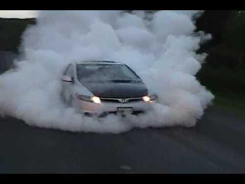 06 civic Si burnout - YouTube