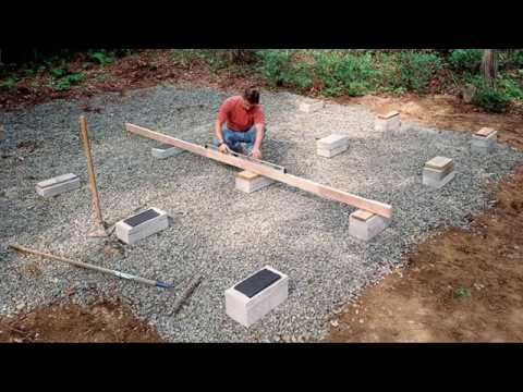 Shed Building Methods On Grade Foundations Youtube