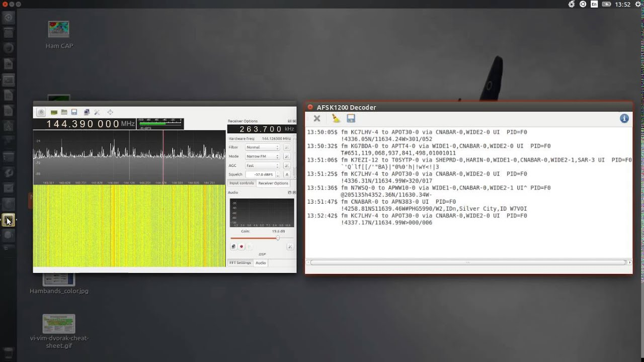 GQRX running in Crouton Installed Ubuntu 14 40 LTS