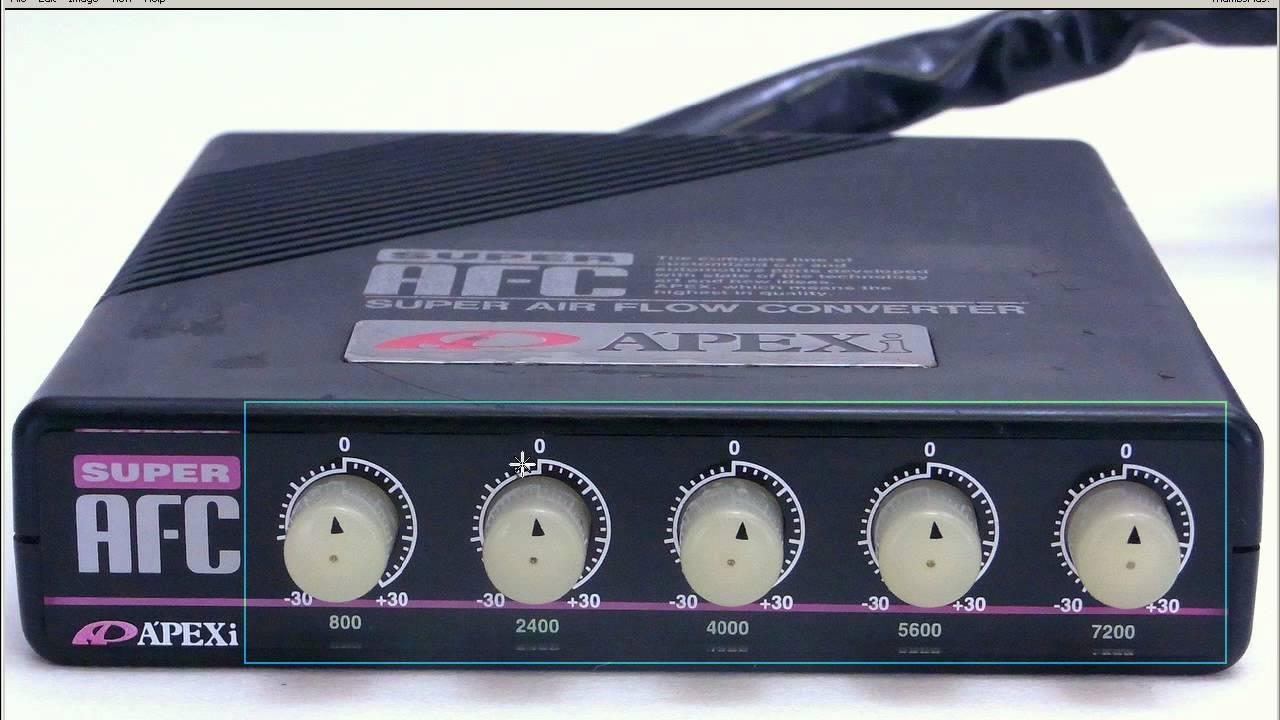 Apexi SAFC 5-DIAL A/F Air flow converter - YouTube