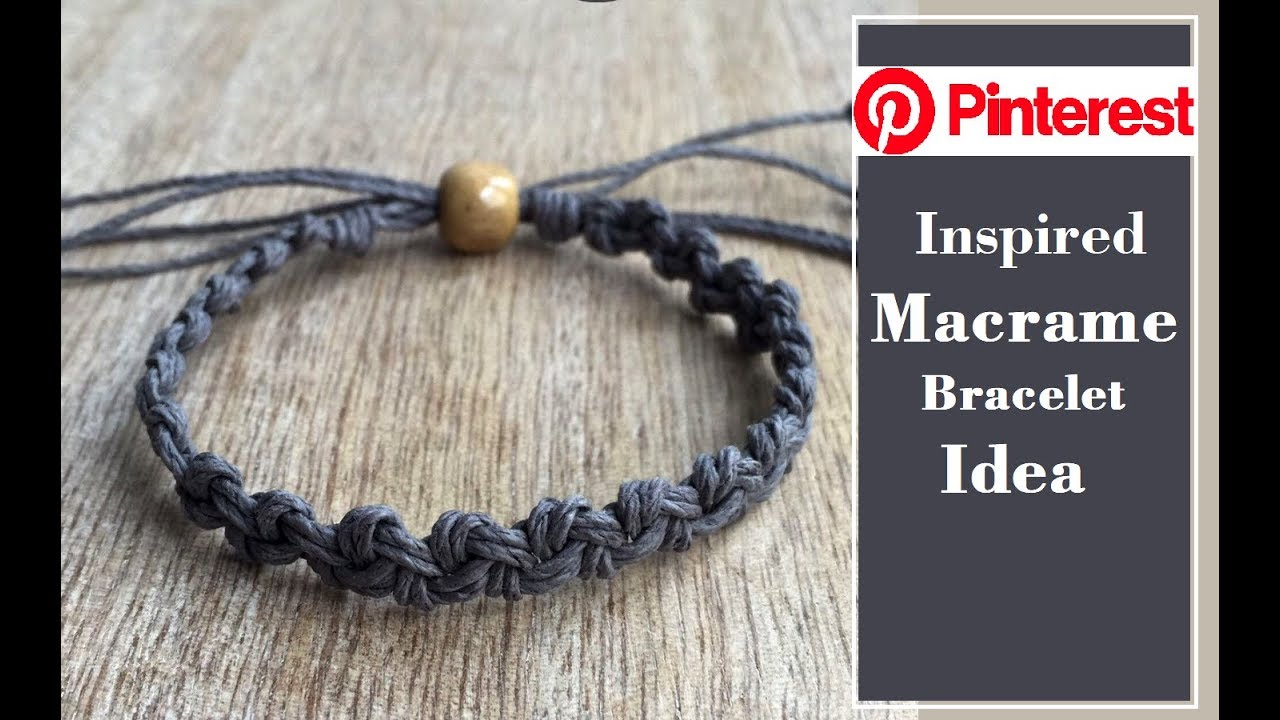 Handmade Thread Bracelet Ideas | DIY Macrame Bracelet