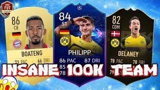 INSANE 100K TEAM FIFA 19   100K BUNDESLIGA SQUAD BUILDER FIFA 19!!