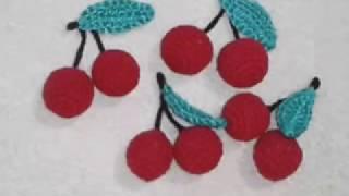 Вишня! Вязание крючком!  Knitted cherry