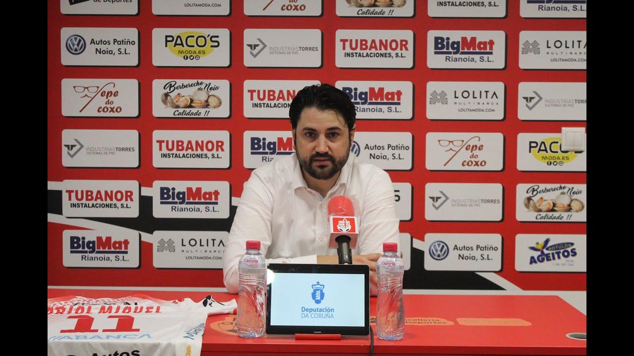 """Marlon Velasco: """"Teníamos la ilusión de darle los tres puntos a la afición y a Oriol Miquel"""""""