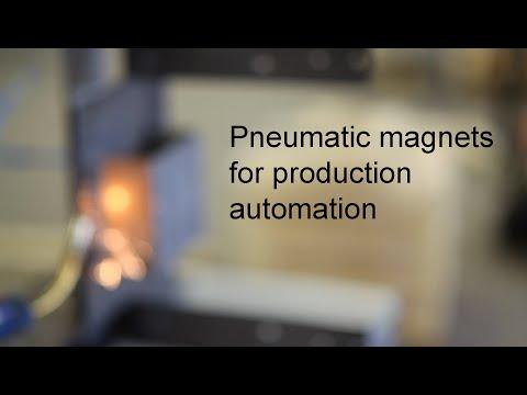 Welding Fixture with Ixtur Pneumatic Magnets