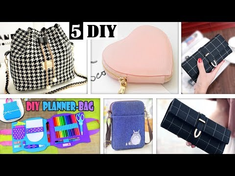MOST FANTASTIC DIY BAG TUTORIALS EVER // Easy Fast Making Purse Bag Ideas