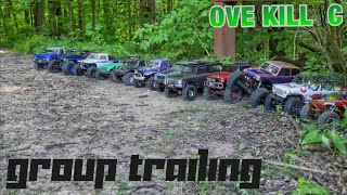 Group R/C Tiny Truck Trail Run w/ Axial Wraith Ford Bronco | Trailing Footage | Overkill RC