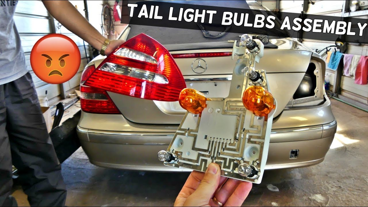mercedes w211 tail light bulb rear turn signal light bulb brake light bulb replacement [ 1280 x 720 Pixel ]