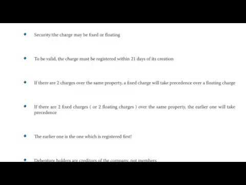 ACCA F4 Company Law: Loan Capital