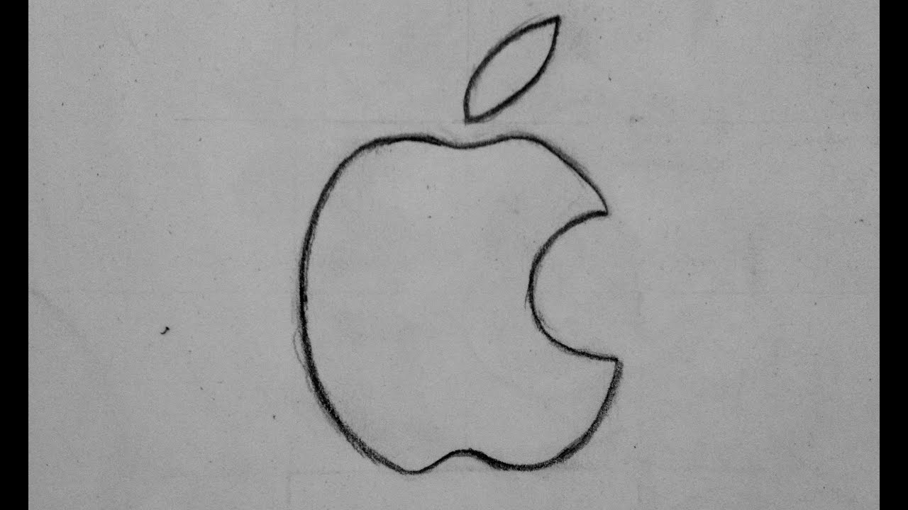 Comment dessiner le logo apple youtube - Dessin pomme apple ...
