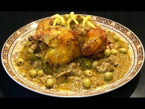 le-poulet-aux-olives-À-la-marocaine-accompagnÉ-de-sa-darmira-(-sauce-épaisse-aux-oignons)
