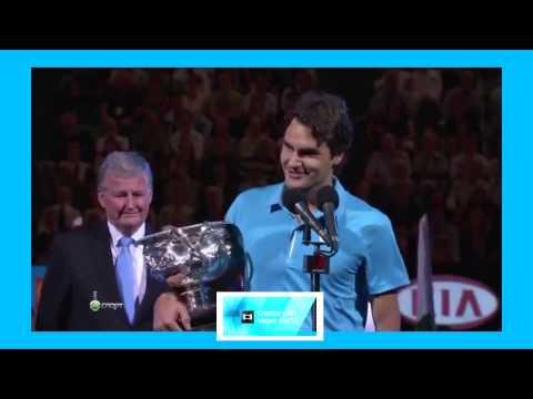 Federer's speech after winning Aus Open 2010- Murray in tears