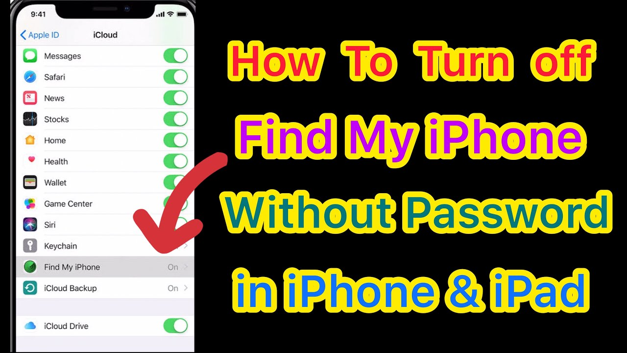 Turn off Find My iPhone without Password ( How To Turn Off Find My