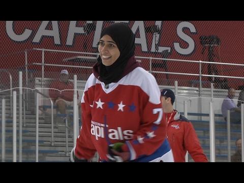 Fatima Al Ali Skates with the Caps