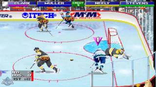 NHL Open Ice 2 on 2 Challenge (MAME) Gameplay [Islanders vs Bruins]