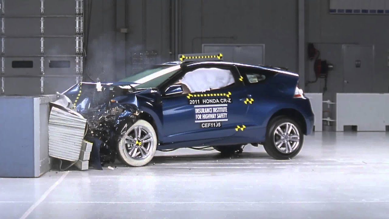 2011 honda cr z crash test youtube. Black Bedroom Furniture Sets. Home Design Ideas