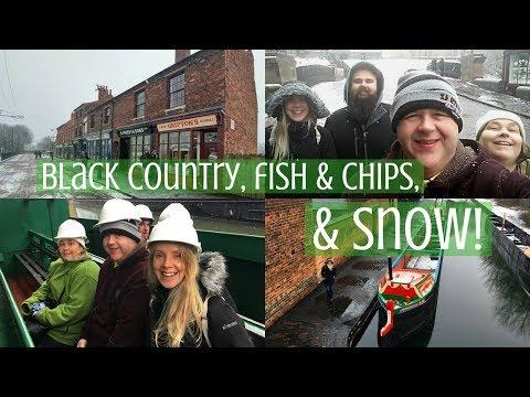 Black Country, Fish & Chips, & SNOW?! Ft. Mark & Debbie | England Vlog #19