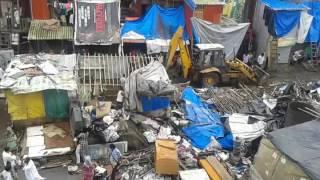 Department Demolishing Illegal house near Bandra Station East - 1