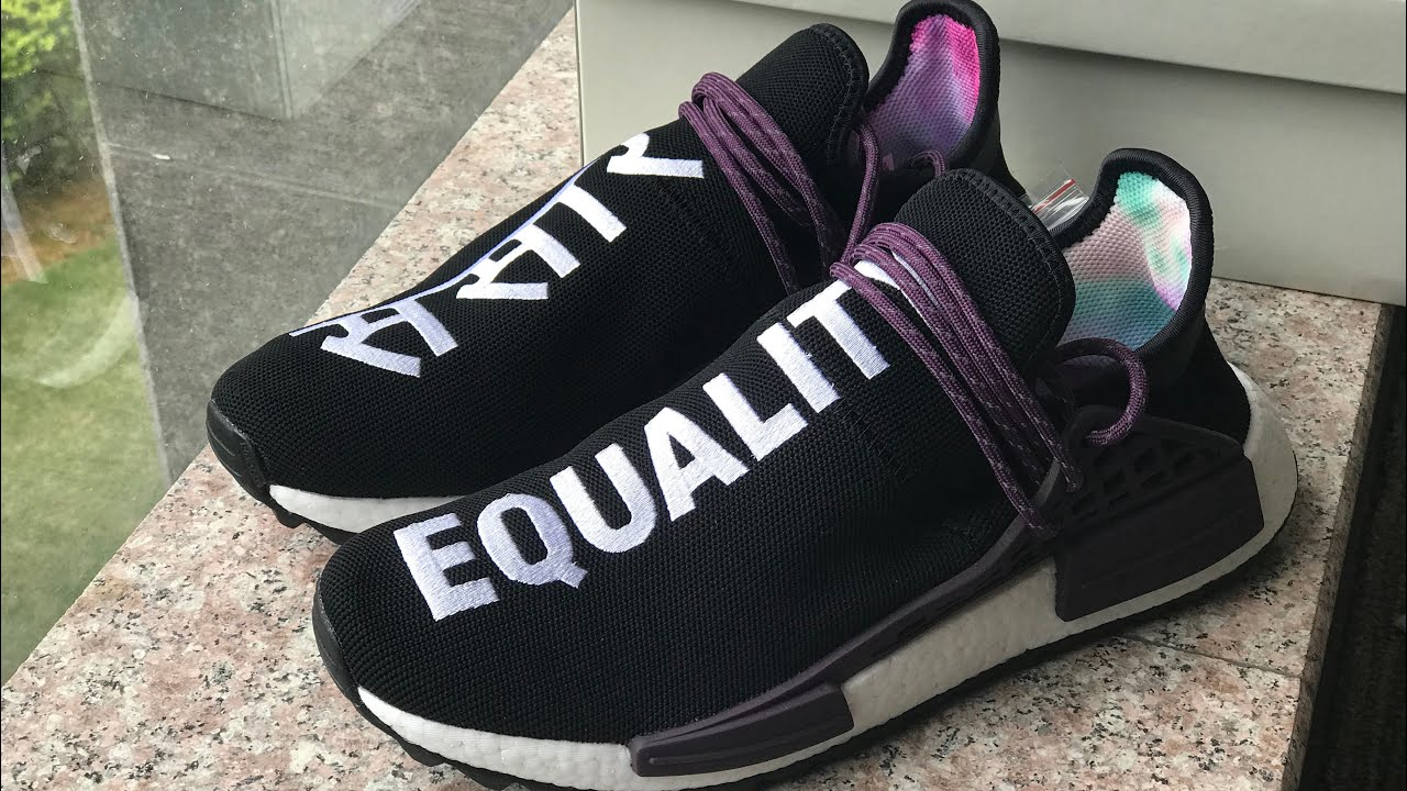 "cadff1c5e Authentic Pharrell x AD NMD Hu Trail ""Equality"" Holi HD review - YouTube"