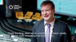 Ville Skinnari about the value of event industry - Finland Convention Bureau (FCB)
