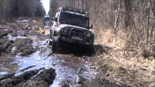 Toyota Hilux и УАЗ Хантер, джип тур - Подмосковье(Видео к статье: http://www.moto-svoboda.ru/trophyraids/33-trophy-raids/197-toyota-hilux-and-uaz-hunter-jeep-tour-moscow-extreme., 2014-04-14T18:14:03.000Z)