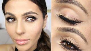 bronze winged eyeliner tutorial   eye makeup tutorial   teni panosian