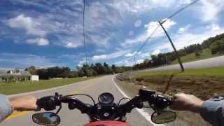 Harley Davidson 48: GoPro ride from London to Manchester, Kentucky