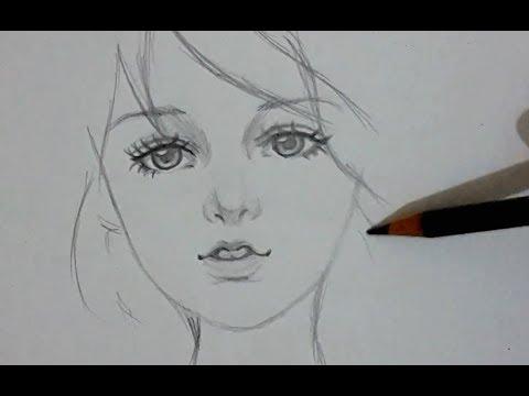 ᴴᴰ Draw Beautiful Girl Youtube
